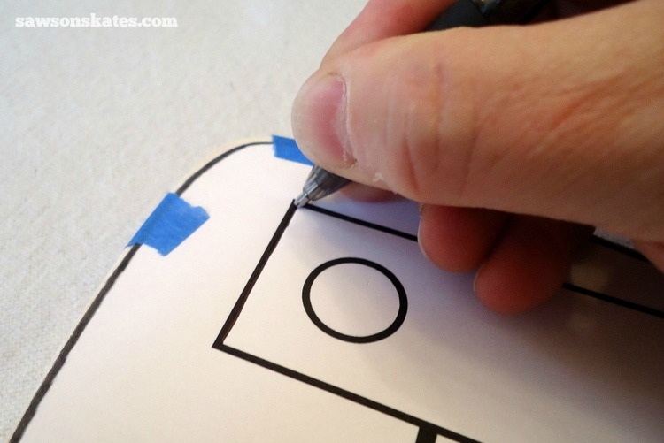 This simple trick will make you look like a freehand painting pro - Trace the image with a ball point pen onto the wood