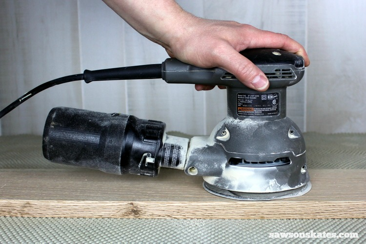 Essential Tools - a random orbit sander produces a flawless finish for DIY furniture projects