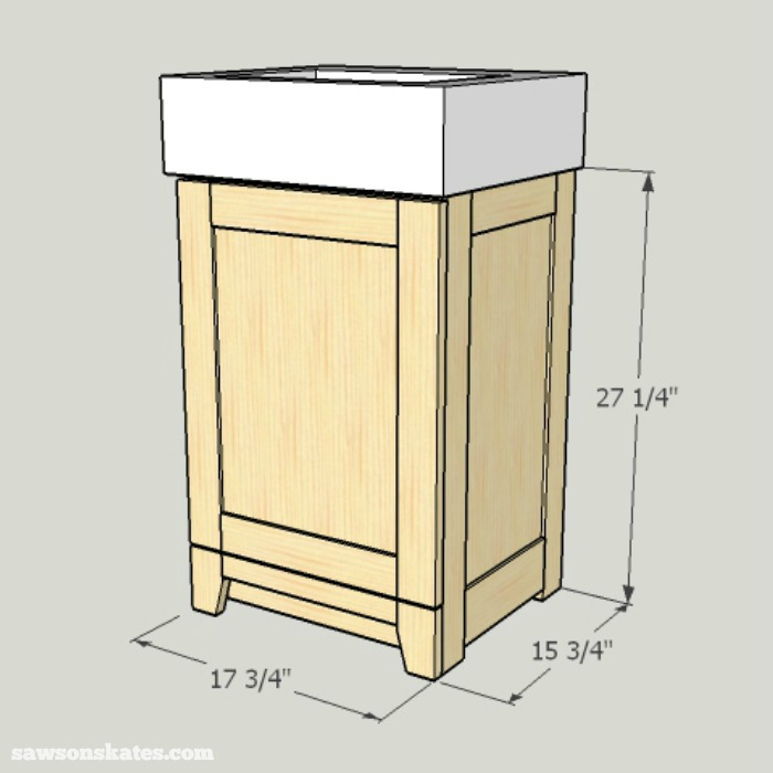 DIY Shaker Bathroom Vanity - the compact design is perfect for small bathrooms