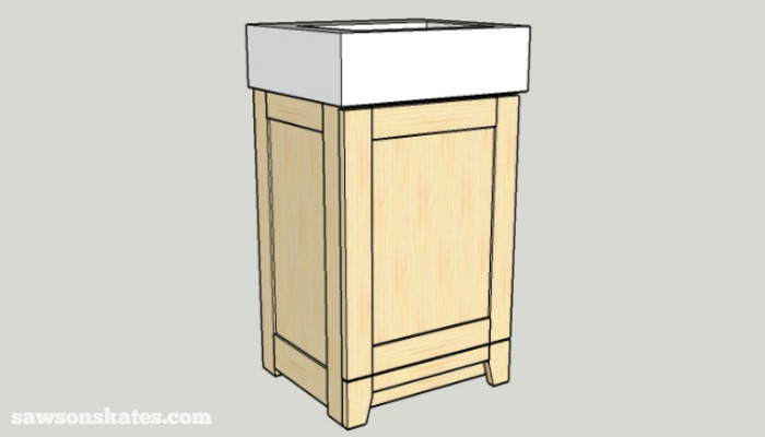 DIY Shaker Bathroom Vanity