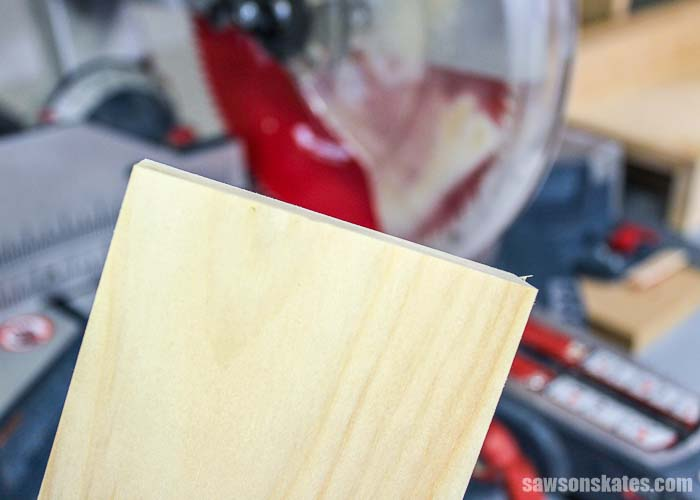 Once you have squared the end of the board you're ready to start cutting your board to length.