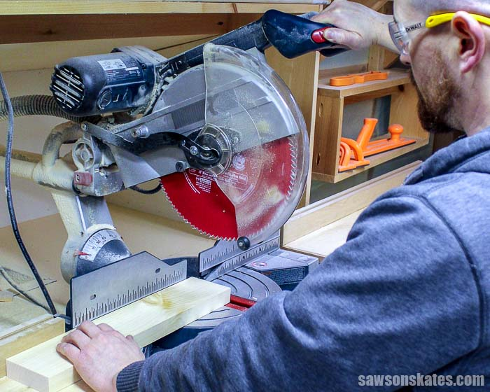 If you're like me, the miter saw is one of the tools I use the most to build my DIY furniture projects. Today I'm sharing how we can make the most of one of the tools we use the most... 7 miter saw tricks every DIYer should know!