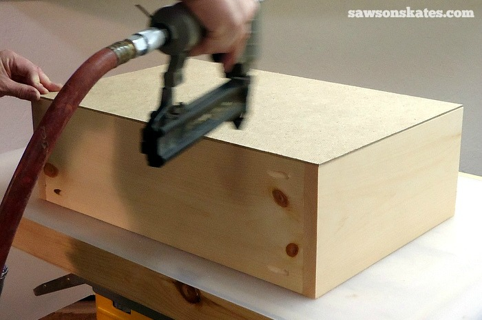 Install the Retro Nightstand Drawer Box Bottom