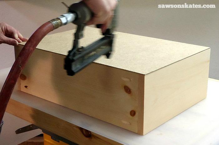 Install the Retro Nightstand Drawer Box Bottom