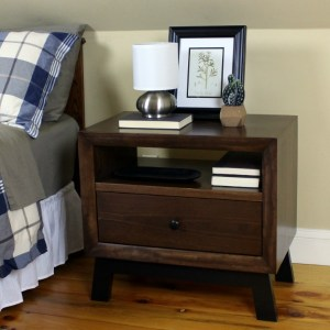 DIY Chunky Solid Wood Retro Nightstand
