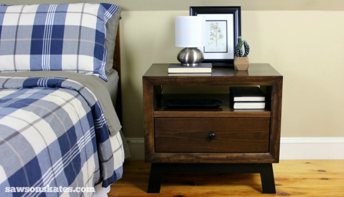 DIY Chunky Retro Nightstand - finished 1