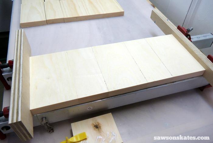Make the Retro Nightstand Inside Shelf Panels