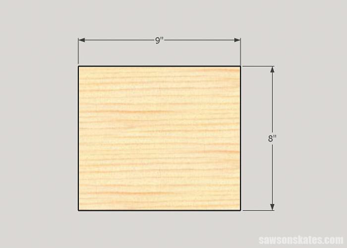 DIY ladder desk - cut the cabinet sides