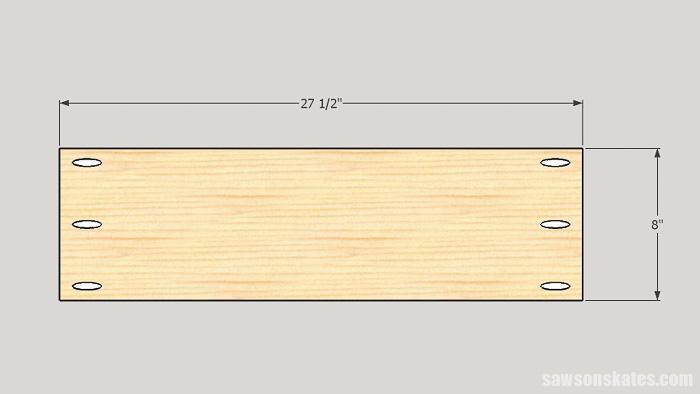 DIY ladder desk - cut the cabinet back