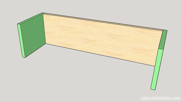 DIY ladder desk - assemble the cabinet
