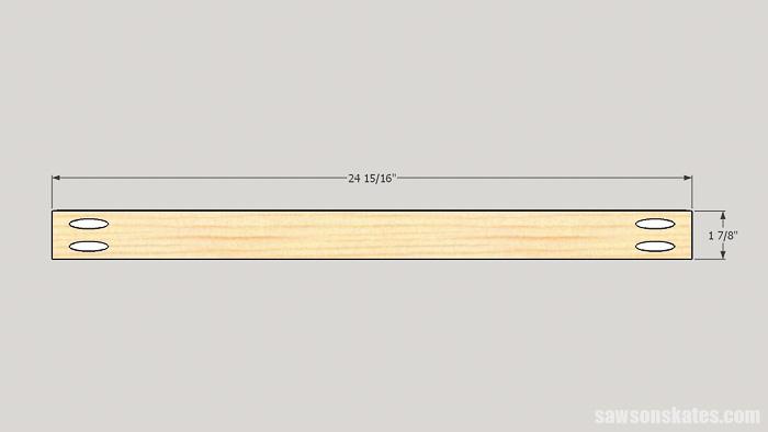 DIY ladder desk - cut the drawer front/bakc