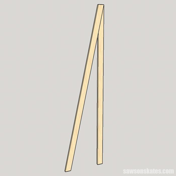 DIY ladder desk - assemble the legs