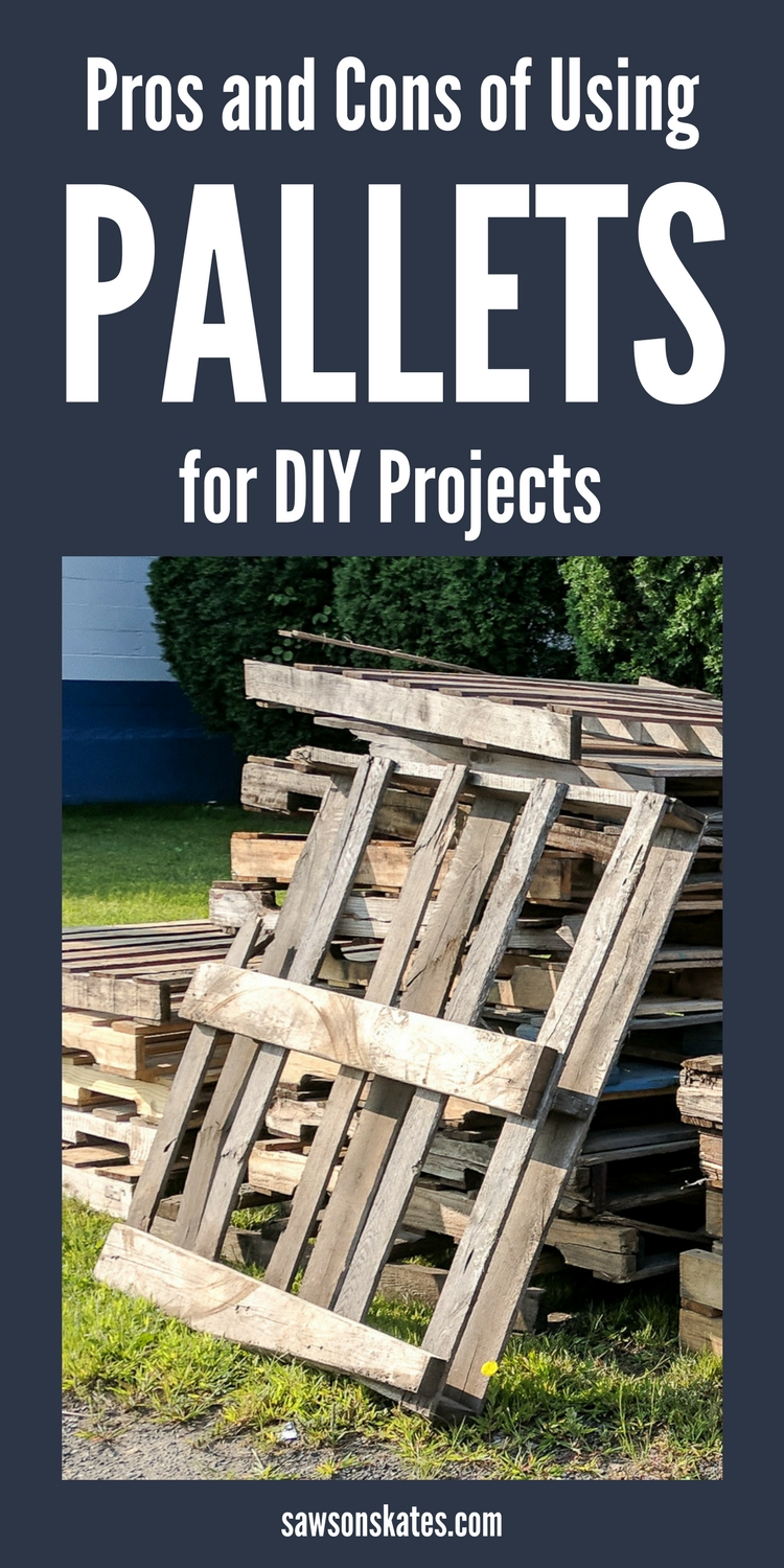 Looking for ideas to recycle pallets? Sure you can make furniture, wall decor, and outdoor projects, but there are a few things to think about before using pallet wood for DIY projects. Check out these pros and cons before picking up that pallet on the side of the road!
