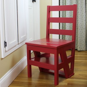 DIY Ladder Chair Perfect for Seating and Reaching
