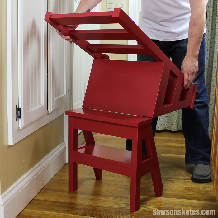 DIY Ladder Chair - flipping from chair to ladder