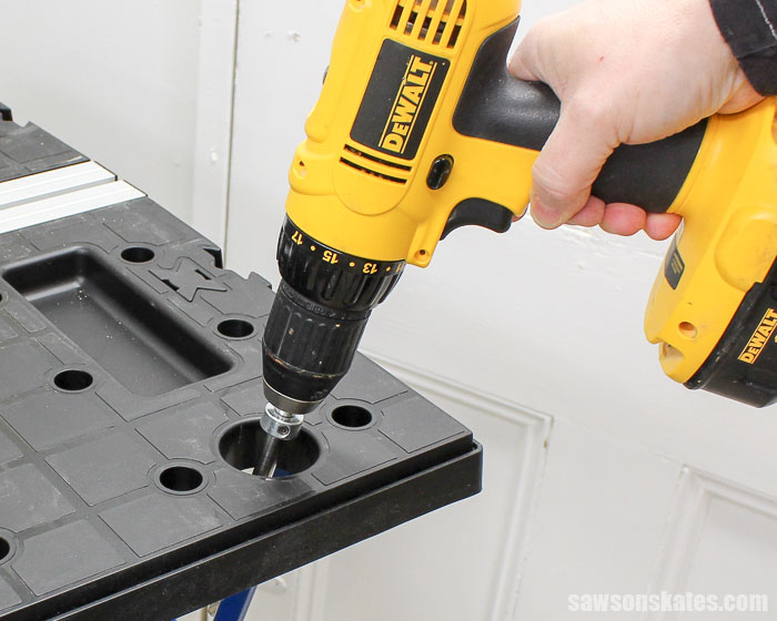 Best Workbench Features - Does the workbench you're considering for your workshop have a drill holster?