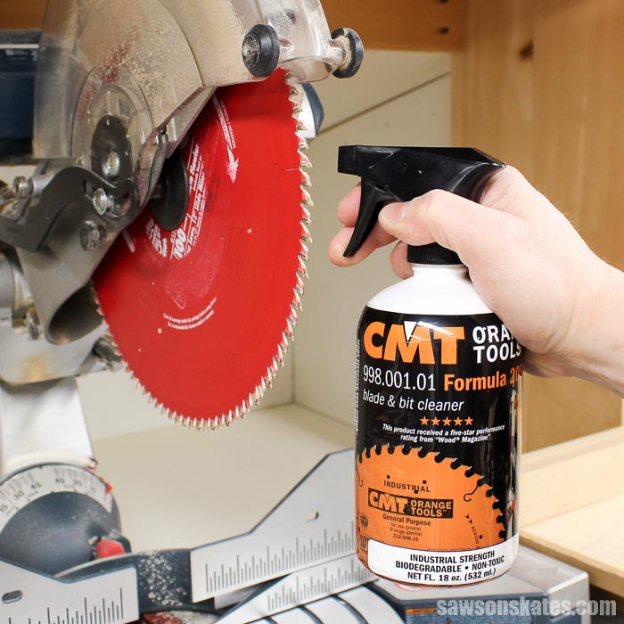 Learn how to clean saw blades! Clean blades improve the quality of your cuts, reduce corrosion, and keep your tools running at peak performance!
