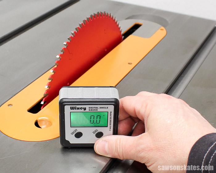 Setting your table saw blade angle with a digital angle gauge is easy, precise, eliminates guesswork and ensures precision cuts every time.
