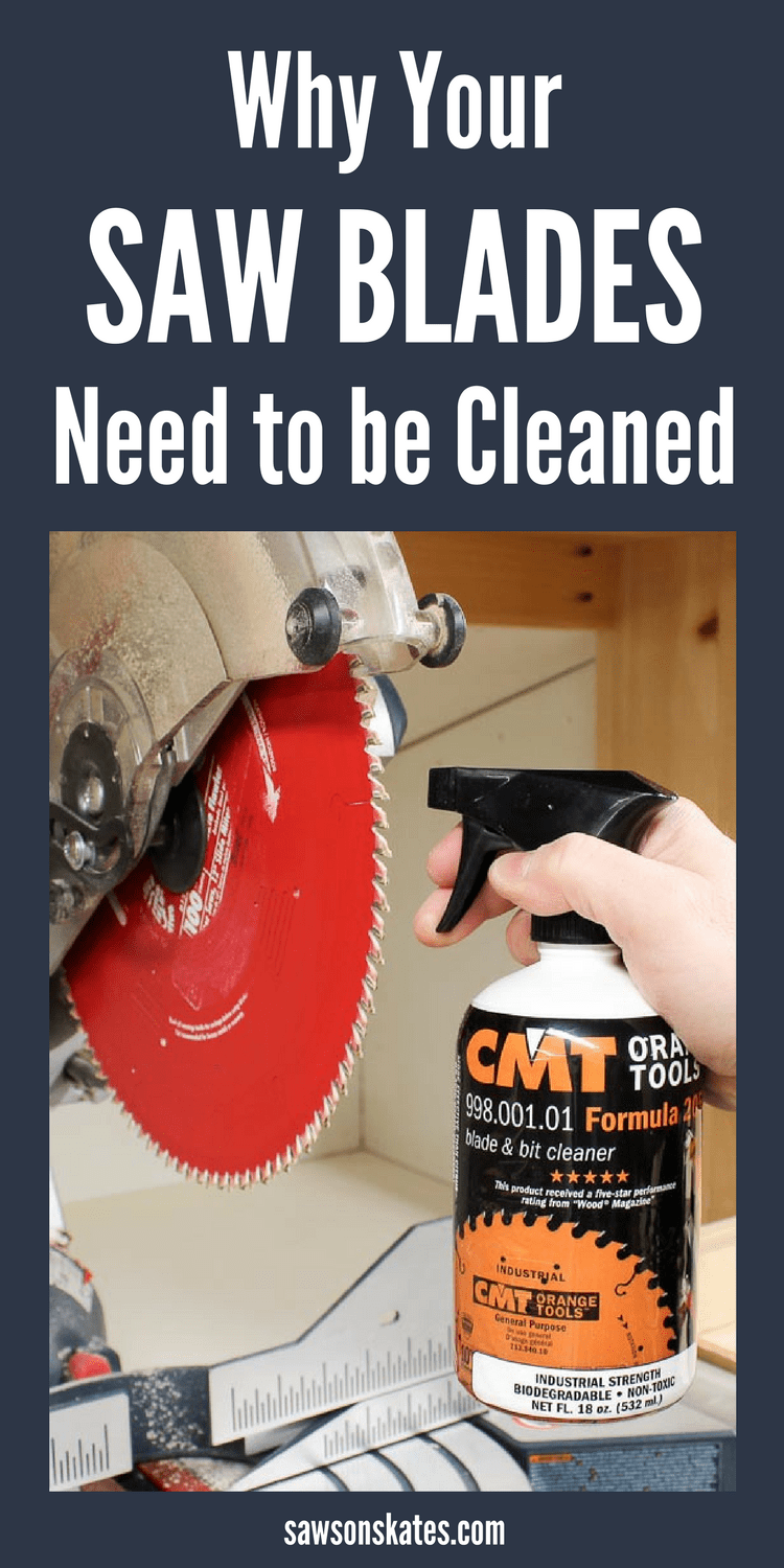 Looking for ideas to improve the performance of your woodworking tools? Have you ever cleaned your saw blades? No?! Cleaning your blades will improve the quality of yours, reduce corrosion of your blades and keep your saws running at peak performance. #woodworkingtips