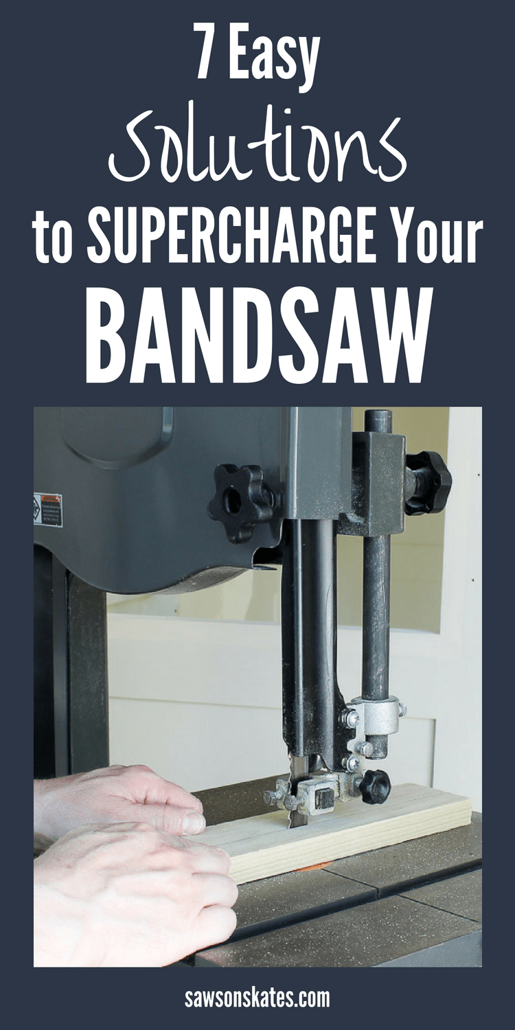 A bandsaw is a handy tool when building DIY projects. Looking for ideas to make the most of your band saw? Here are 7 tips and tricks that will supercharge your bandsaw! #diy #diytips #bandsaw #woodworking #woodworkingtips #woodworkingtools #diywoodworking