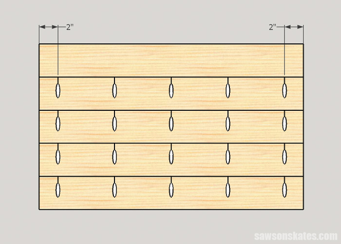 Pocket Hole Tips for Edge Joints - set pocket holes in from the edge of boards to prevent cracking