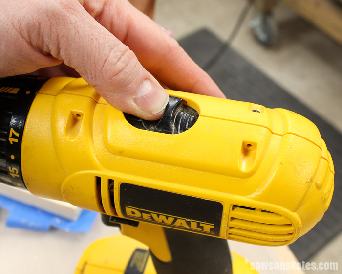 Make the Best Pocket Hole Plugs - set your drill to the highest speed