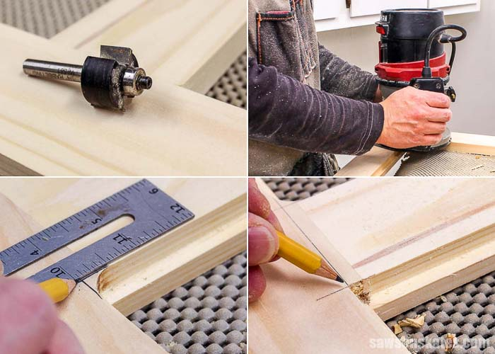 A router and rabbeting bit is used to make a ledge for glass when building DIY wood storm windows
