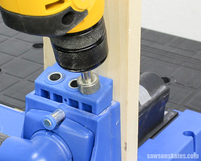 Prevent Rough Pocket Holes - Continue drilling until the depth collar contacts the drill guide