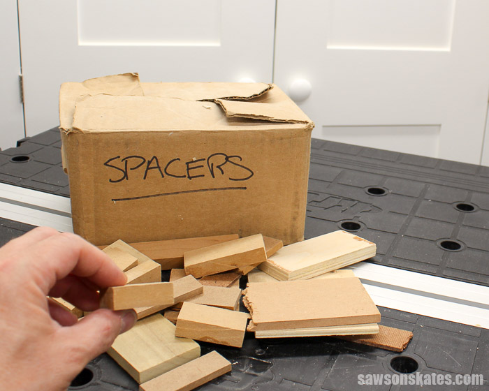 Use scrap wood as spacers or shims to offset workpieces for DIY projects
