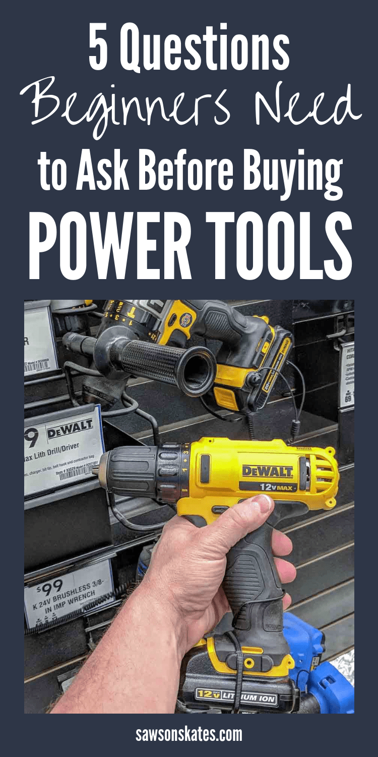 This is the best article I've read about power tools for beginners! There are so many brands like Skil, Ryobi, Makita, DeWALT and more I had no idea what to buy for my woodworking and DIY projects. I'm so glad I read this. It totally got me thinking about tools differently! #diy #diytips #woodworking #woodworkingtools #powertools #saw #drill