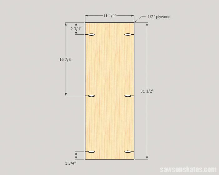 DIY Wine Cabinet - cut the side panels