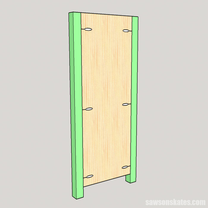 DIY Wine Cabinet - attach the legs to the panels