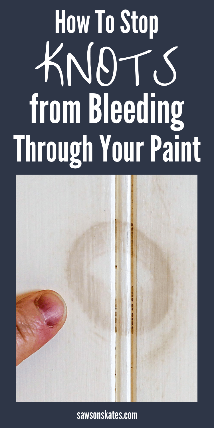 I painted my DIY furniture project and the ugly knots in the wood started bleeding through the paint. I looked for ideas about how to stop the knots from bleeding through paint and found these easy tips! I can't wait to try it on my next project! #diy #diyfurniture #diytips #diywoodprojects #painting #paintingtips