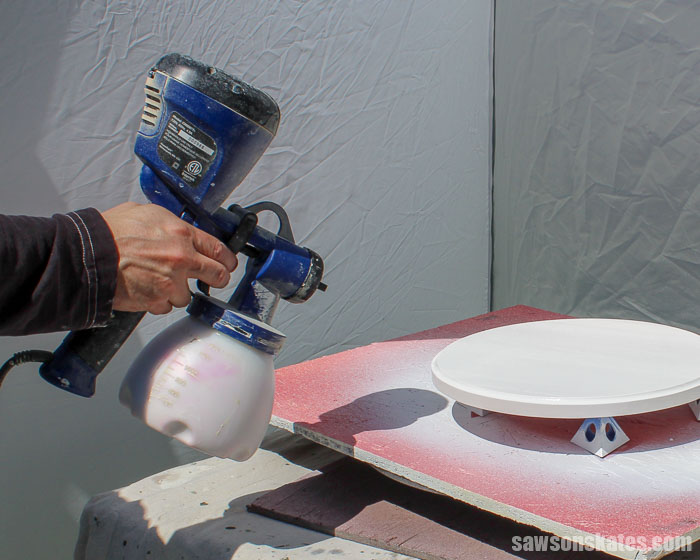 Bumpy paint or paint that looks like an orange peel can happen when using a sprayer. Here are 7 easy ways to avoid this texture on your painted DIY projects.