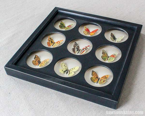 Use a collage picture frame to display family photos or artwork