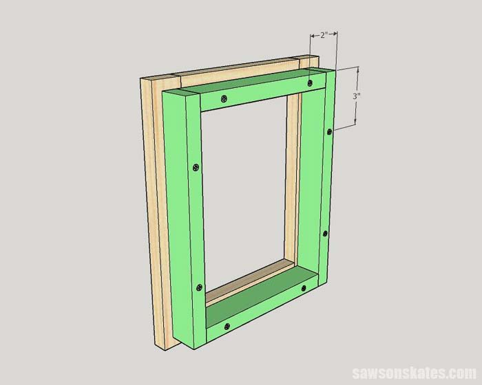 Attaching the back on a DIY wood picture frame