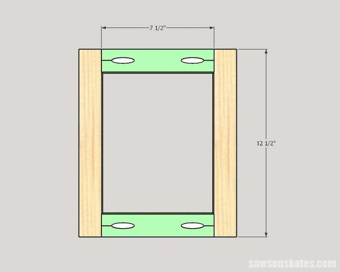 Sketch showing how to make DIY custom size frames