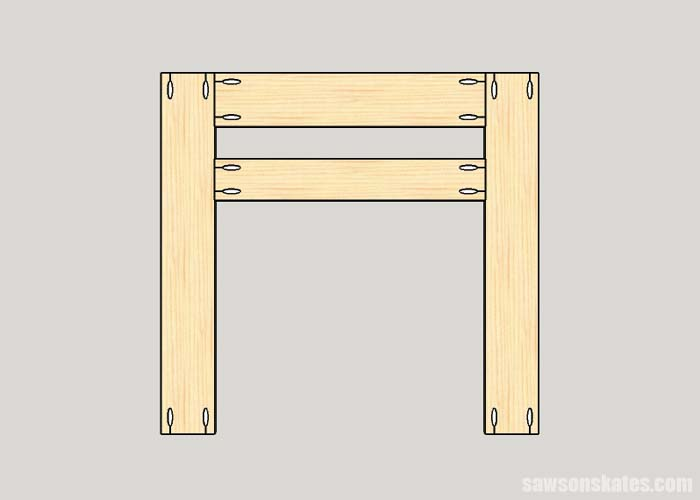 Making the front subassembly for the DIY electric fireplace surround and TV stand