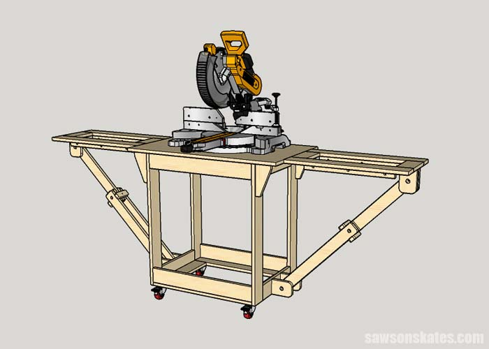 Bolting a miter saw to a collapsible miter saw station