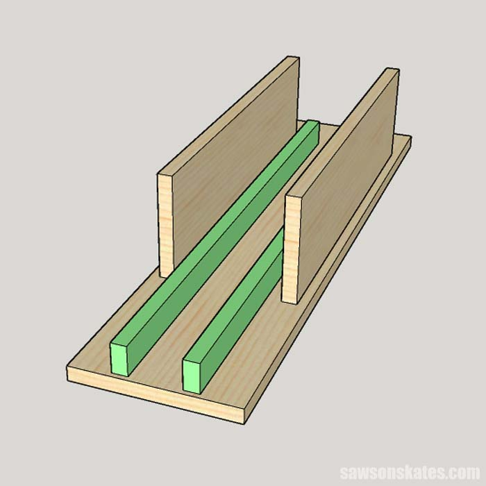 Attaching wing table supports for a DIY portable miter saw station