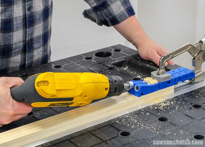 "The Kreg Jig 320 can be configured to use on 1-1/2"" wood like a 1x2"