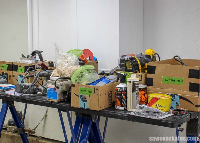 Sorting is the first step for how to organize tools