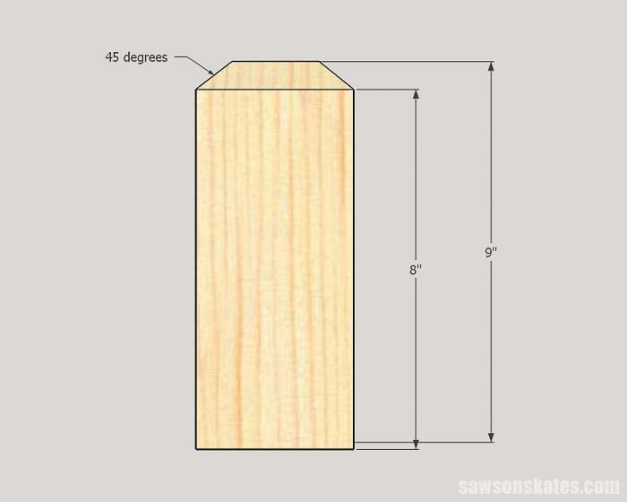 Sketch showing how to make the corners needed to build the DIY tiered raised garden bed
