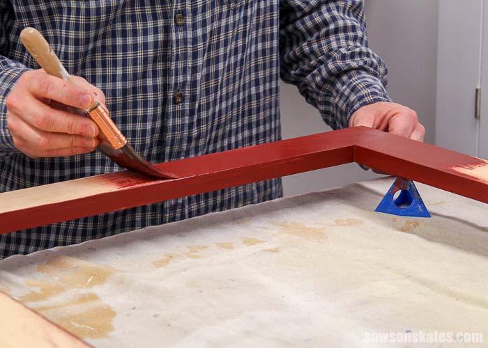 Paint a DIY wood window screen frame