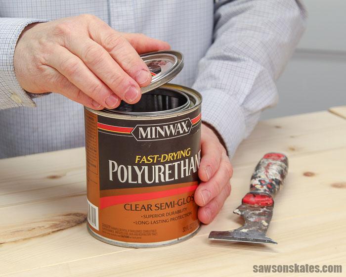 Polycrylic vs Polyurethane - opening a can of oil-based polyurethane