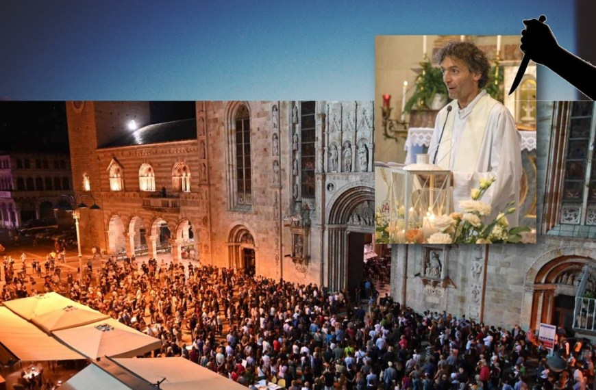 A 51-year-old priest was found dead from knife