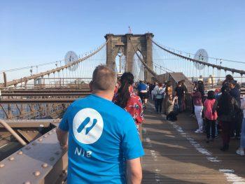 Nib on the Brooklyn Bridge, NYC