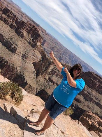 Karen in the Grand Canyon
