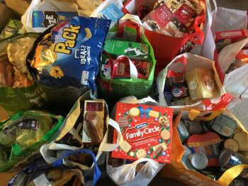 A Christmas collection for the local food bank