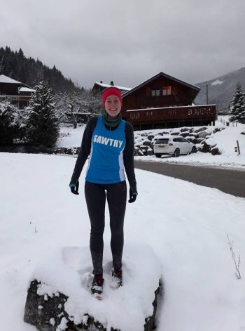 Meg in the French Alps